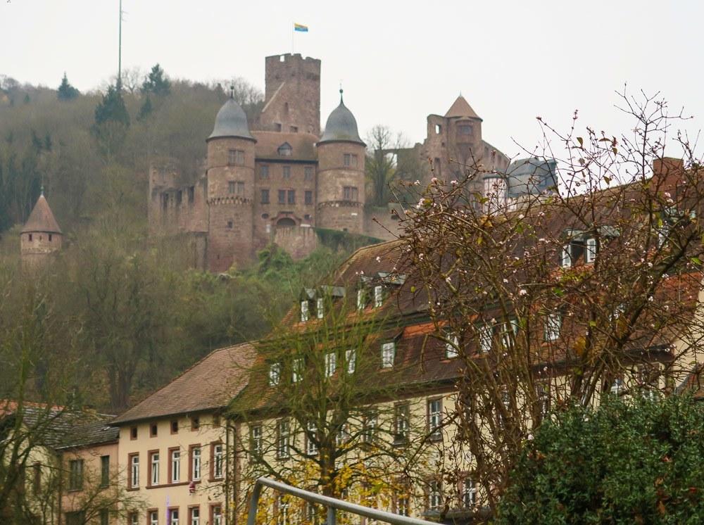 Berg Wertheim castle is the main attraction in Wertheim Germany