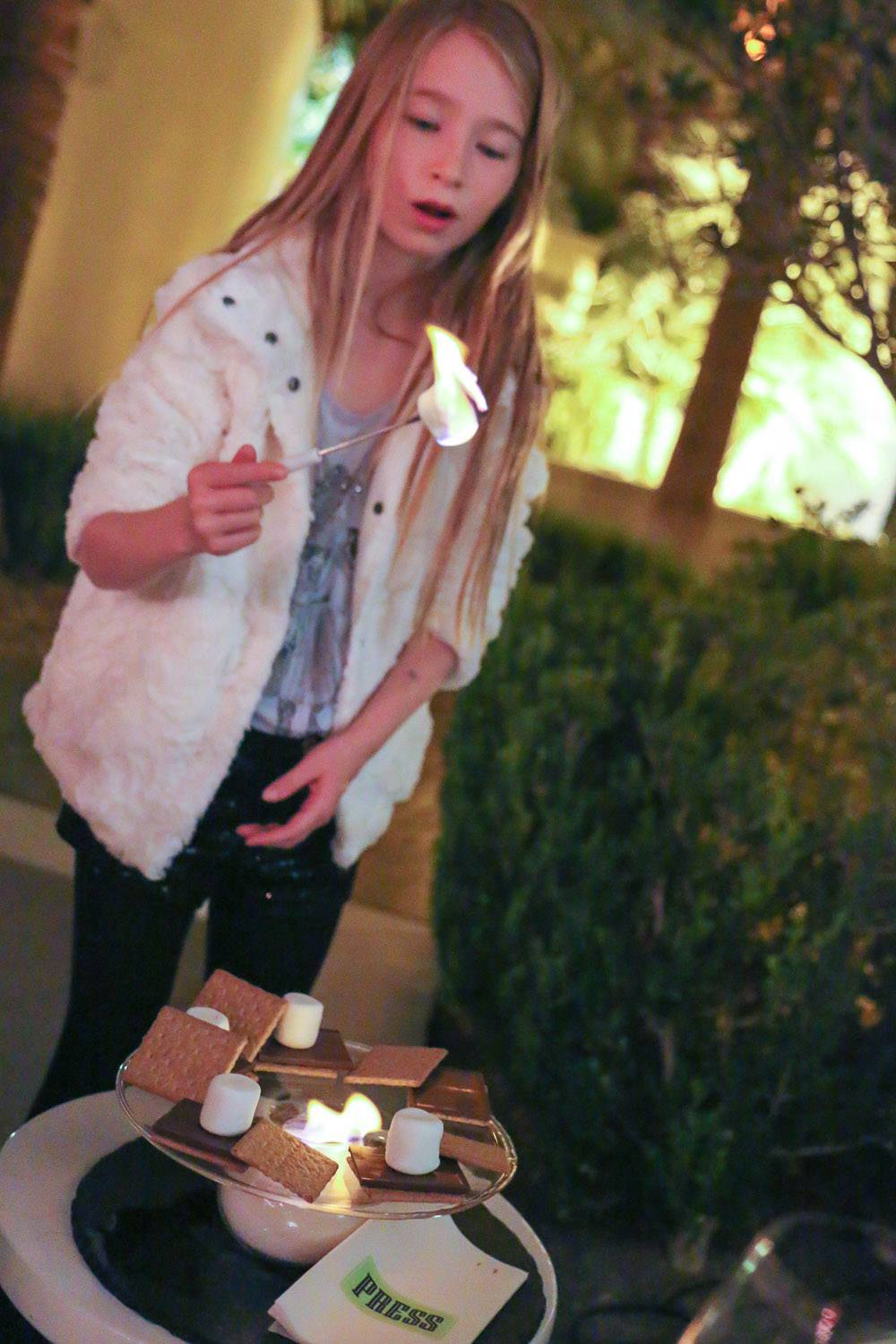 Roast s'mores on the patio at PRESS