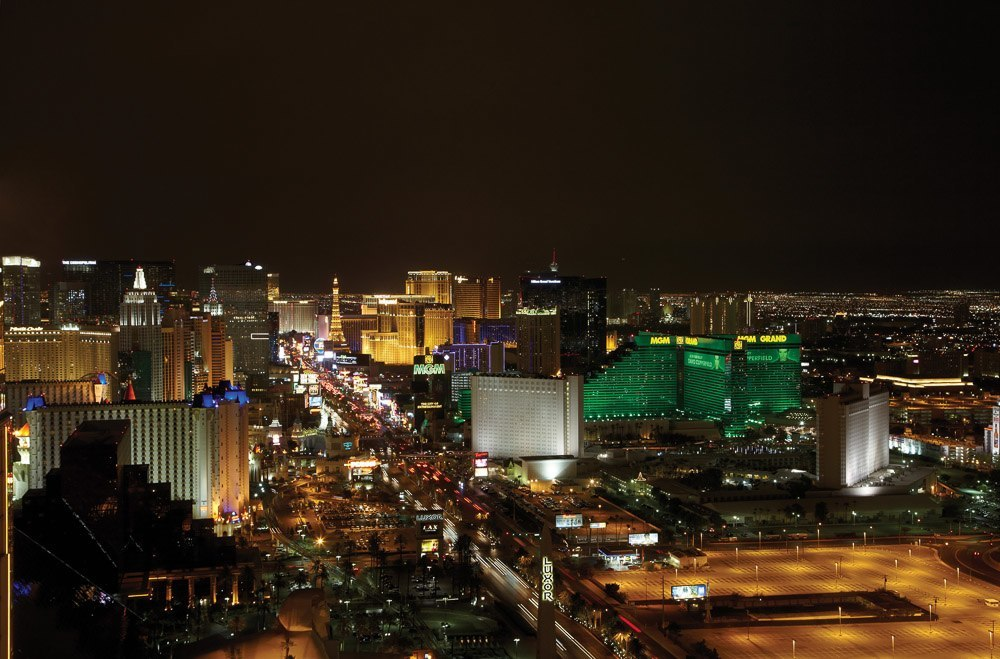 View of the strip from Four Seasons Hotel Las Vegas