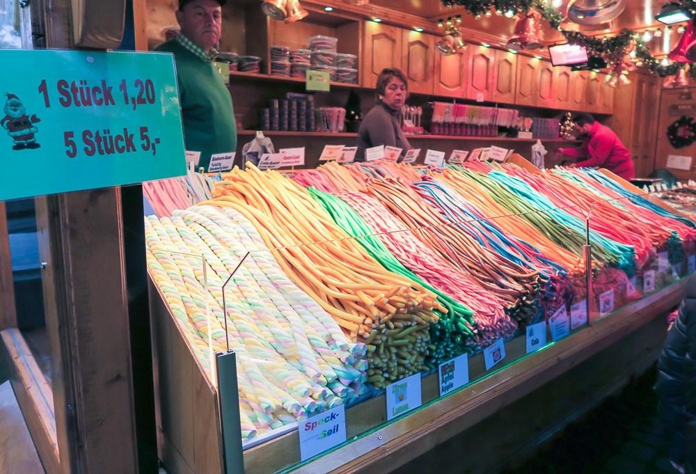 Candy at the Frankfurt Christmas Market