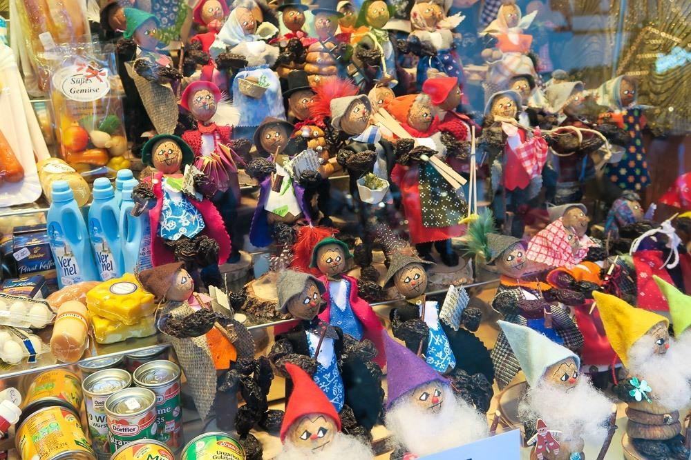 Prune dolls at the Frankfurt Christmas Market