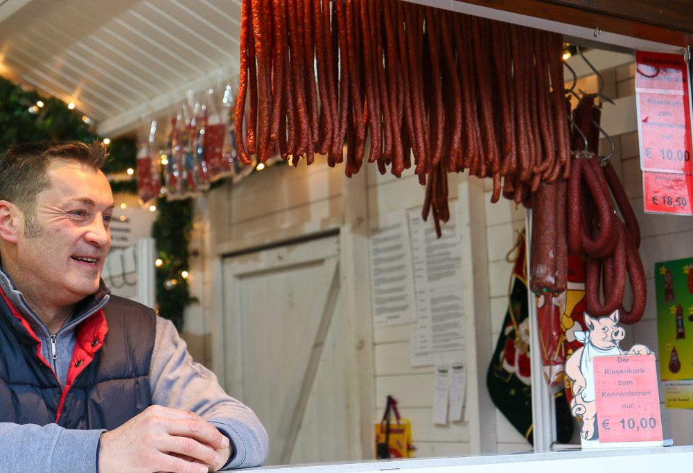 Frankfurt Christmas Market Dried Sausage
