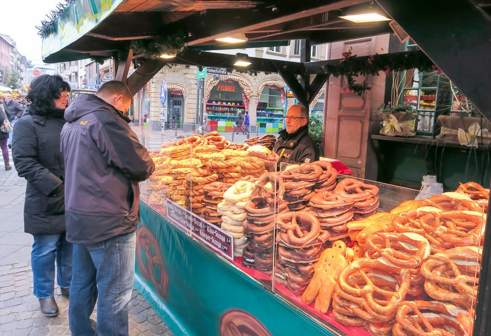 Pretzels at the Frankfurt Christmas Market