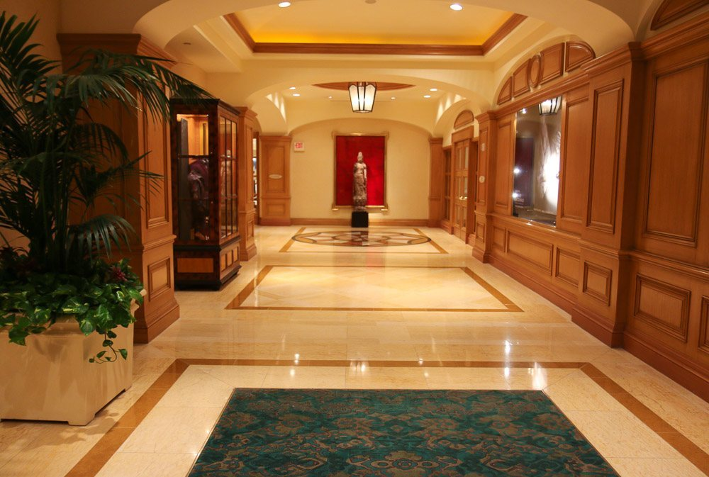Pretty hallway at Four Seasons Hotel Las Vegas