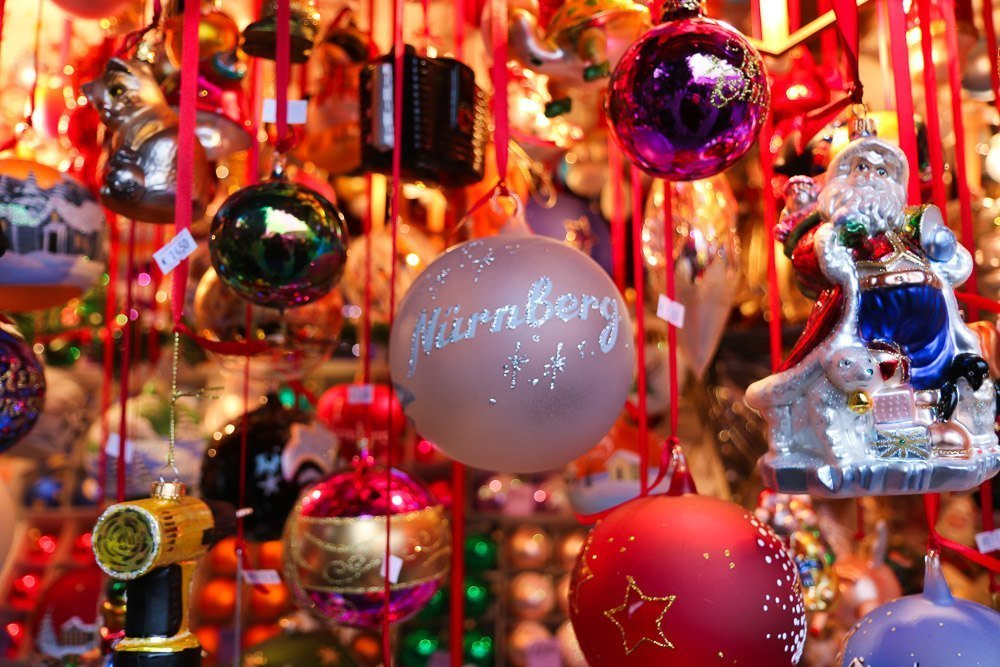 The Nuremberg Christmas Market is full of glass and other handmade ornaments.