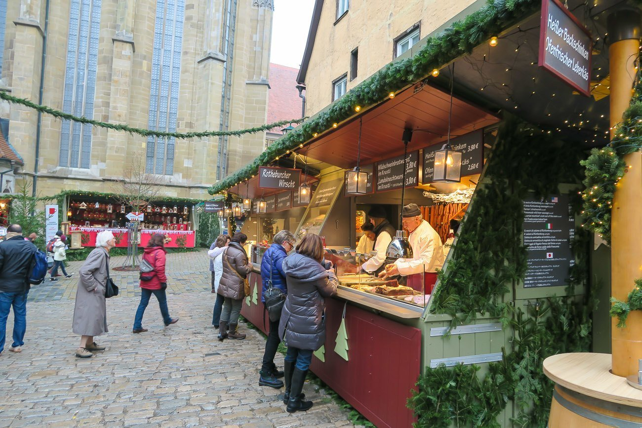 Shopping at the Rothenburg Christmas Market stalls