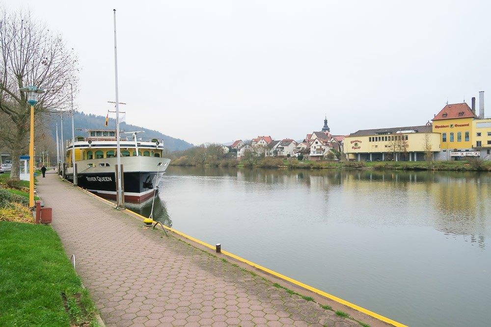 Uniworld's River Queen ship docked in Wertheim