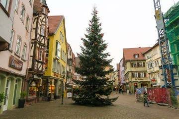 Wertheim Village near the Main River in Germany