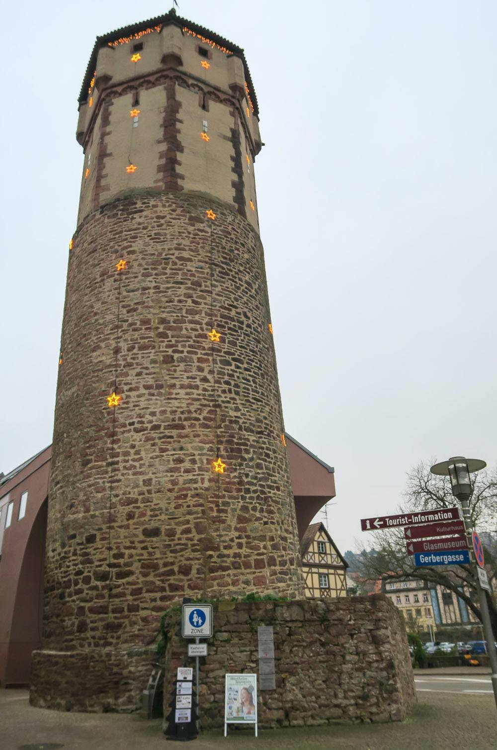 The Pointed Tower of Wertheim leans like the Leaning Tower of Pisa... kind of.