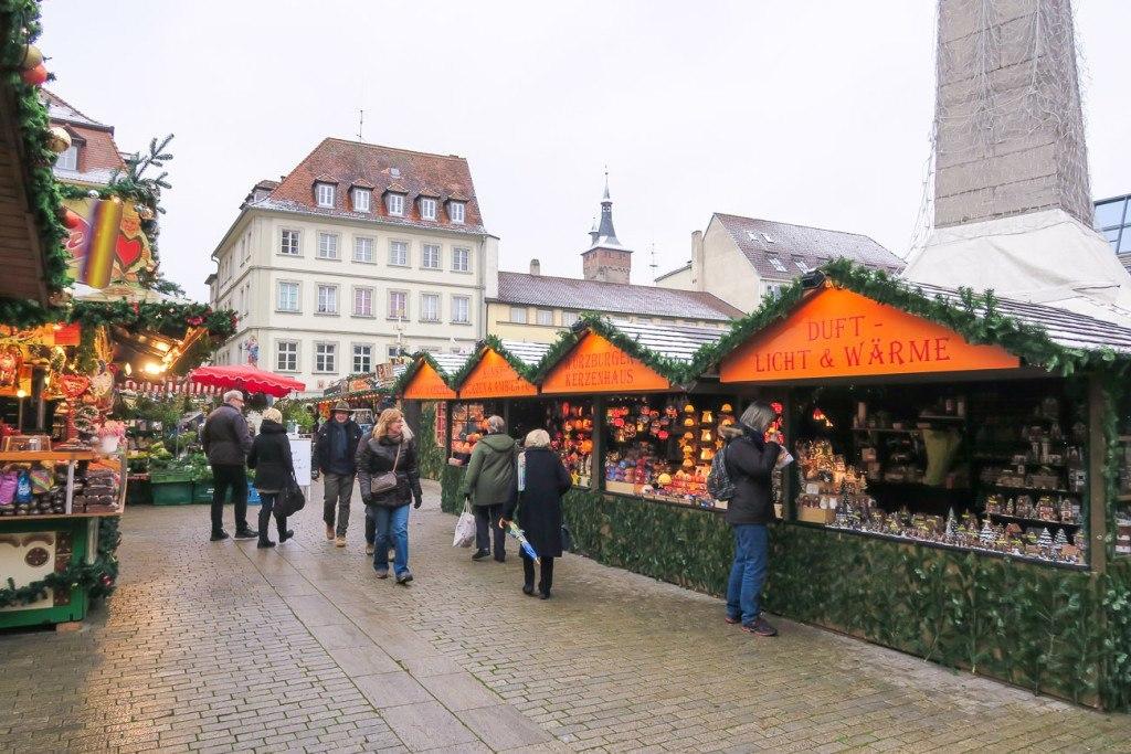 Shopping at the Wurzburg Christmas Market