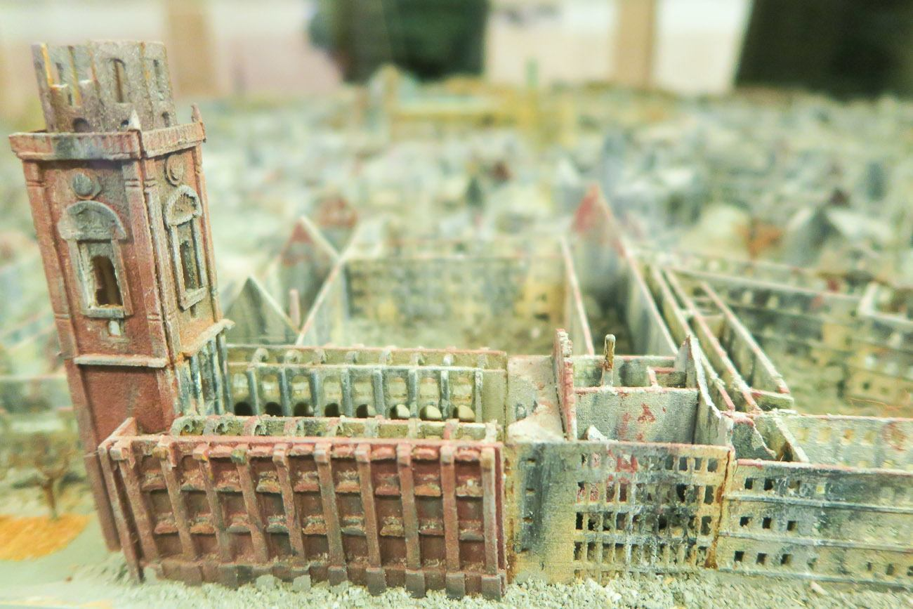 The replica of what Wurzburg looked like after the 1945 bombing.