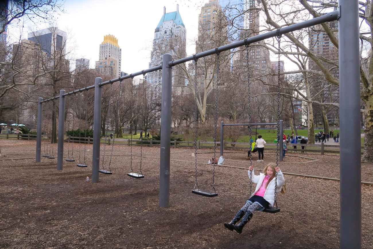 Central Park New York City playground near Columbus Circle