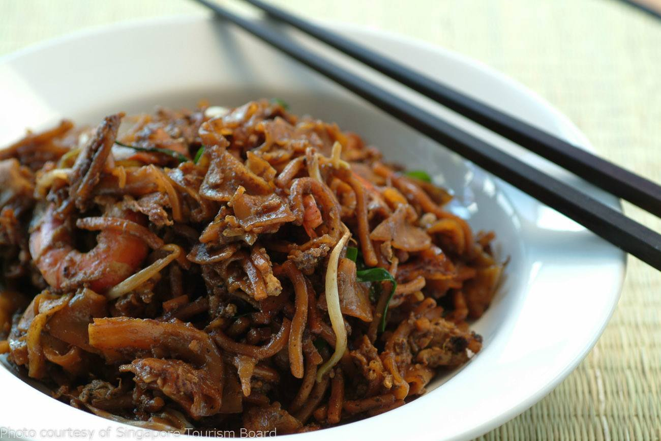 Char kway teow fried noodles - Singaporean food