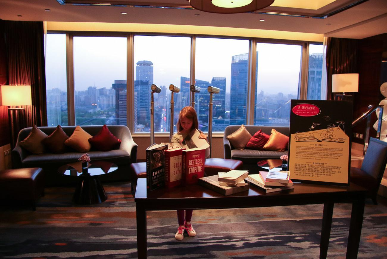Loved chilling in the Four Seasons Hotel Beijing Executive Club library