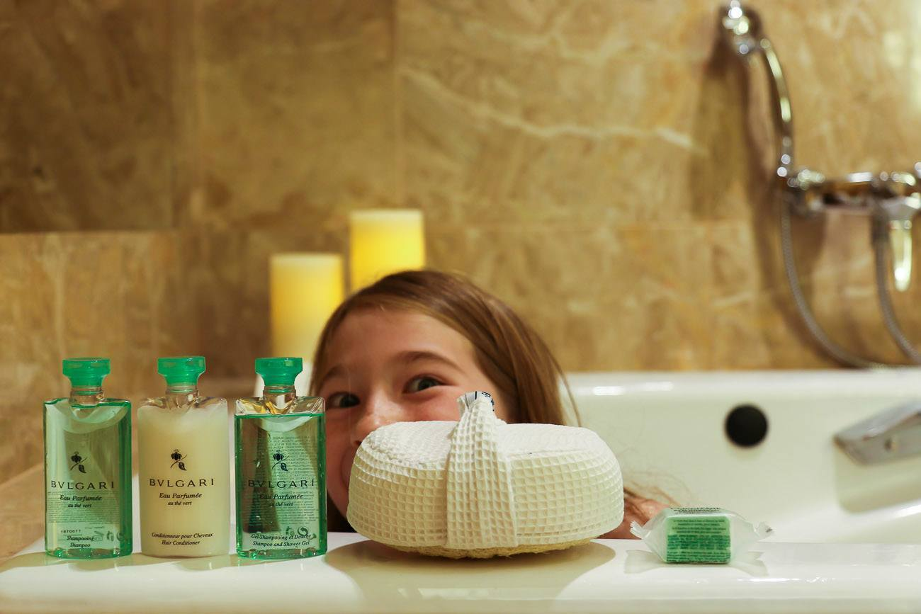 Bulgari amenities at Four Seasons Hotel New York