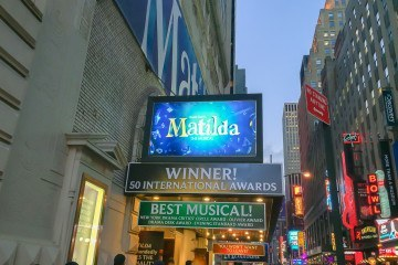 Matilda the Musical is at the Shubert Theater in Times Square
