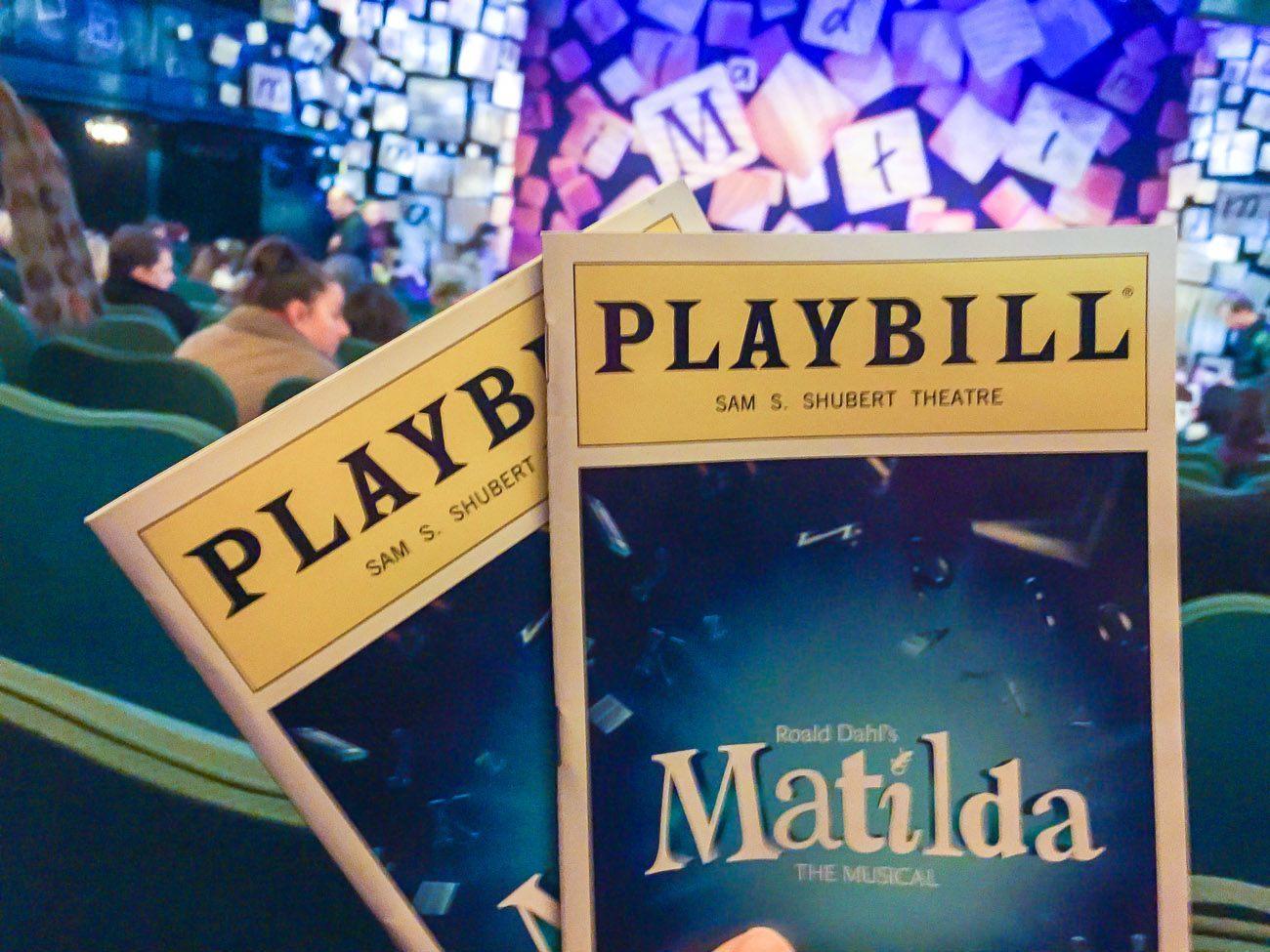 Matilda the Musical orchestra seats