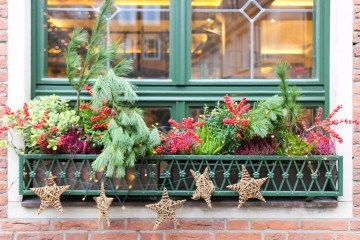 A Christmas window box in Nuremberg