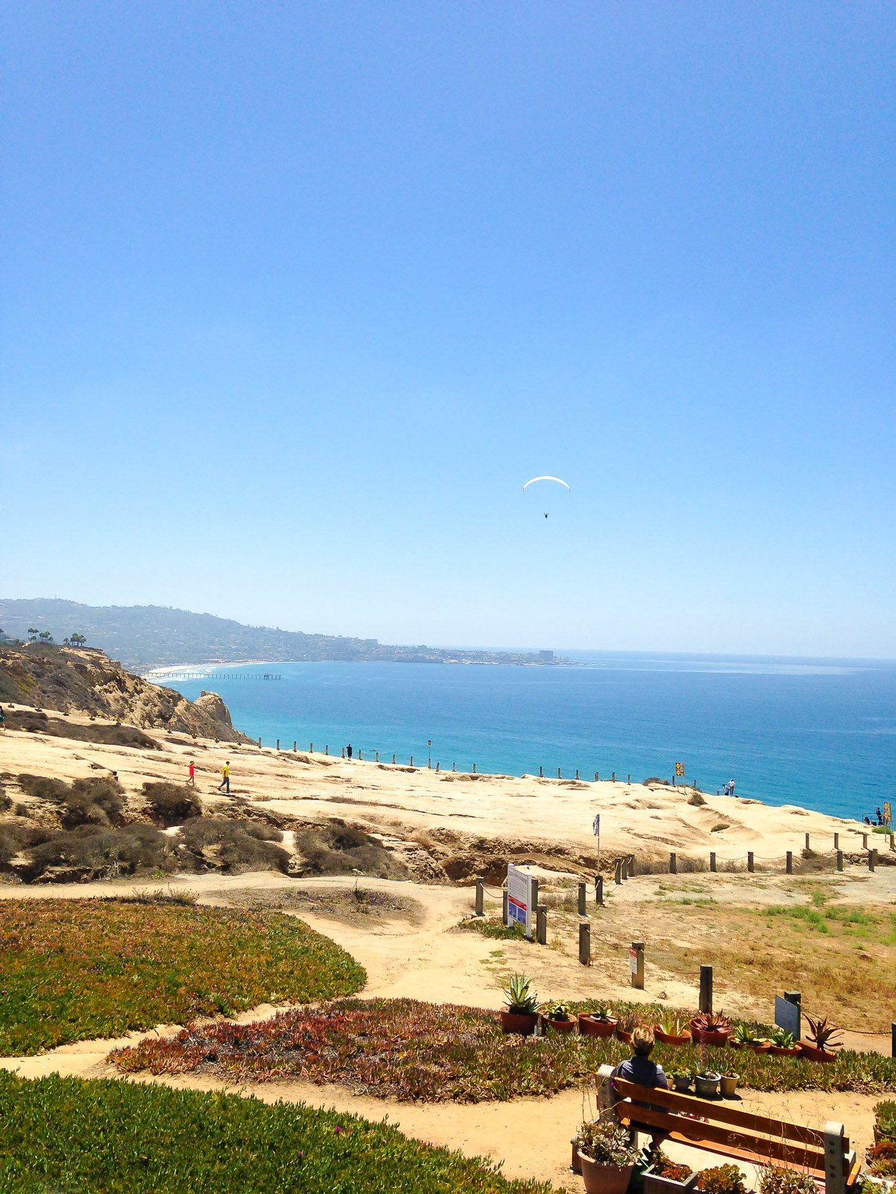 Torrey Pines Gliderport view to La Jolla