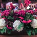 Holiday flower arrangements at Disney's Grand Californian Hotel and Spa