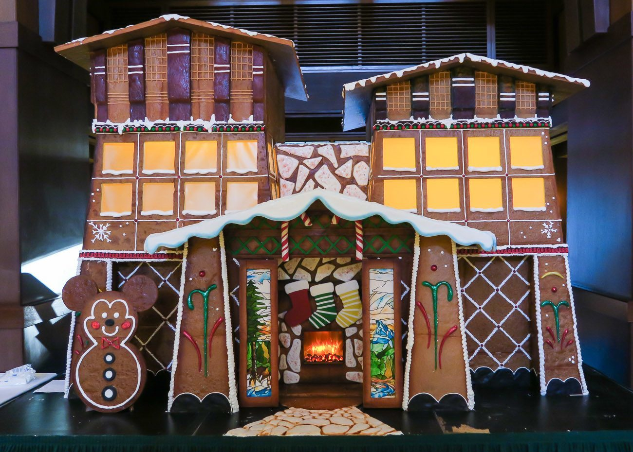 The gingerbread house at Disney's Grand Californian Hotel and Spa