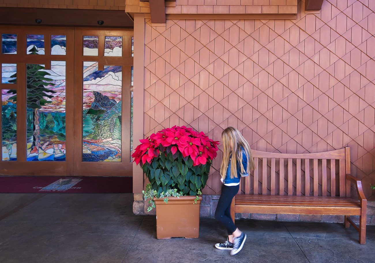 The entrance to Disney's Grand Californian Hotel and Spa