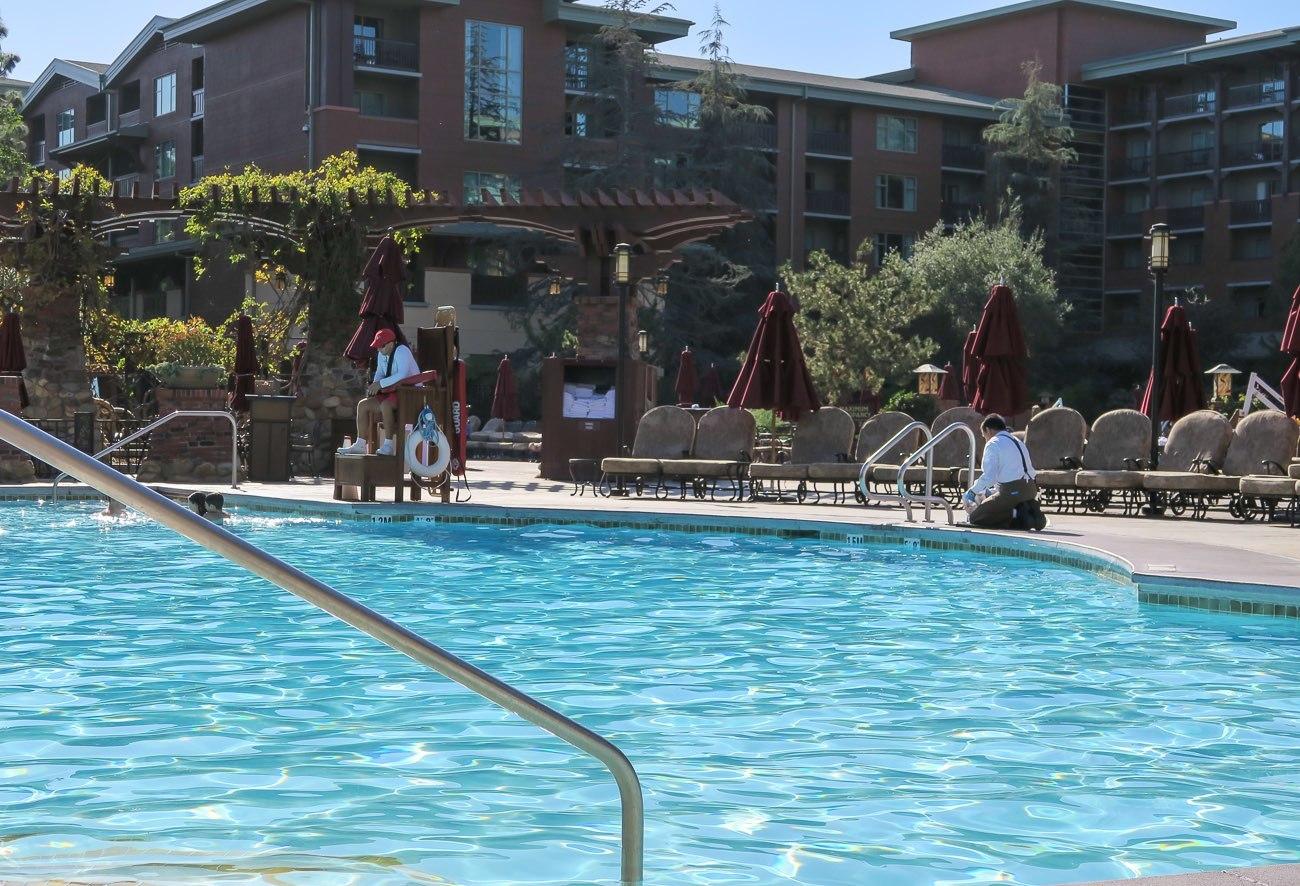 Review disney 39 s grand californian hotel and spa la - Grand menseng hotel swimming pool ...