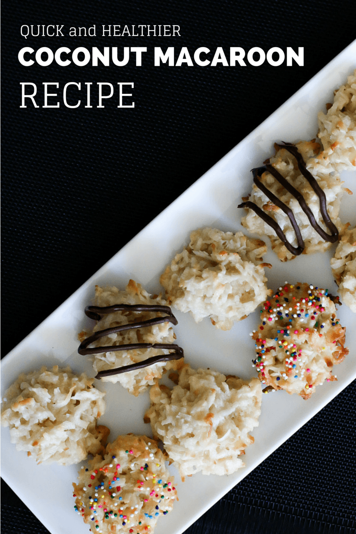 Easy coconut macaroon recipe that is a bit healthier than others