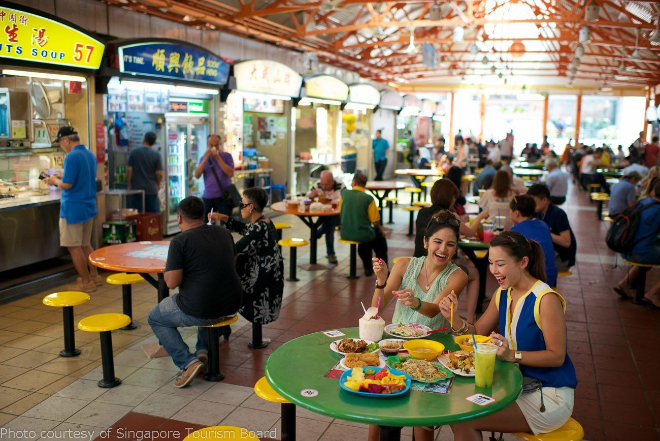 Eat at the Maxwell Hawker Centre in Singapore