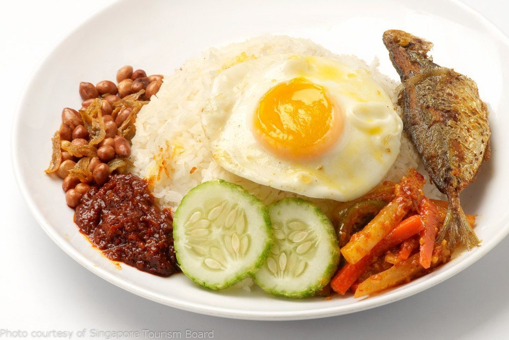 Nasi lemak - Singaporean food