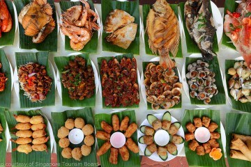 Nasi pedang is rice with multiple meat side dishes and very popular in Singapore