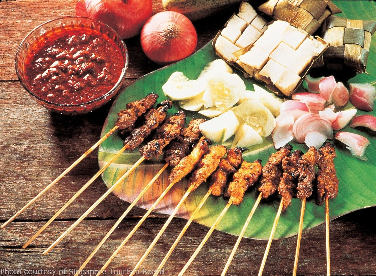 Satay is one of the most popular Singapore foods