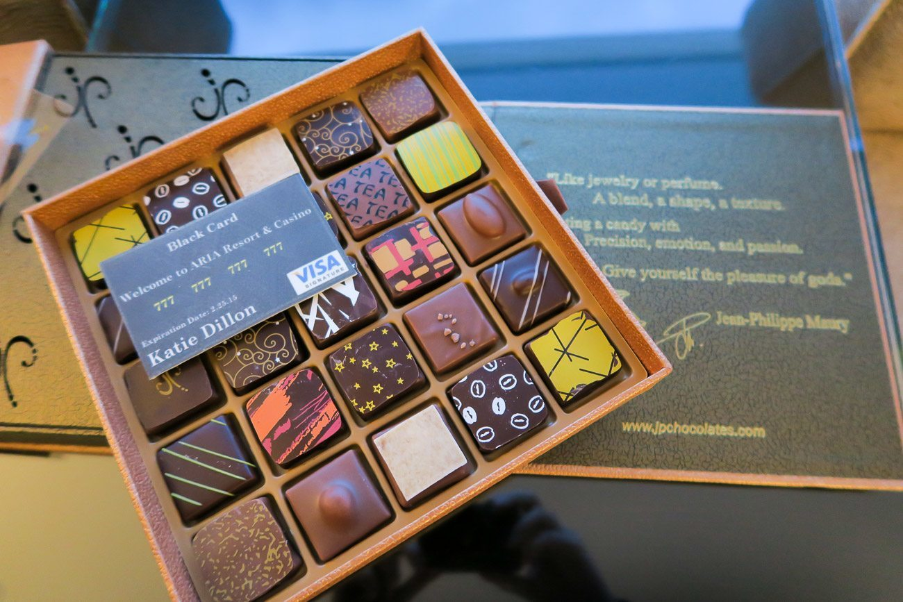 Chocolates from Aria Resort and Casino in Las Vegas