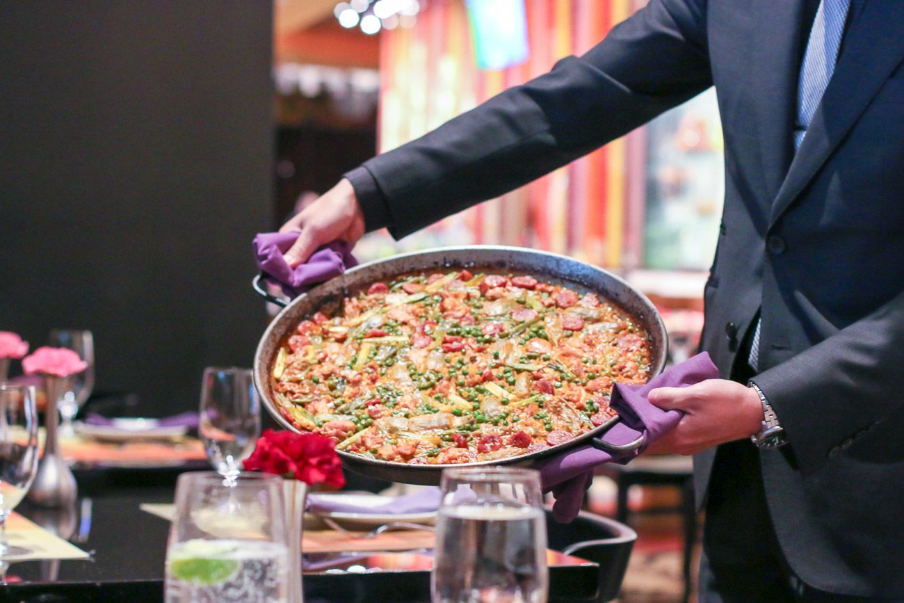 Paella at Julian Serrano Tapas in the Aria Las Vegas