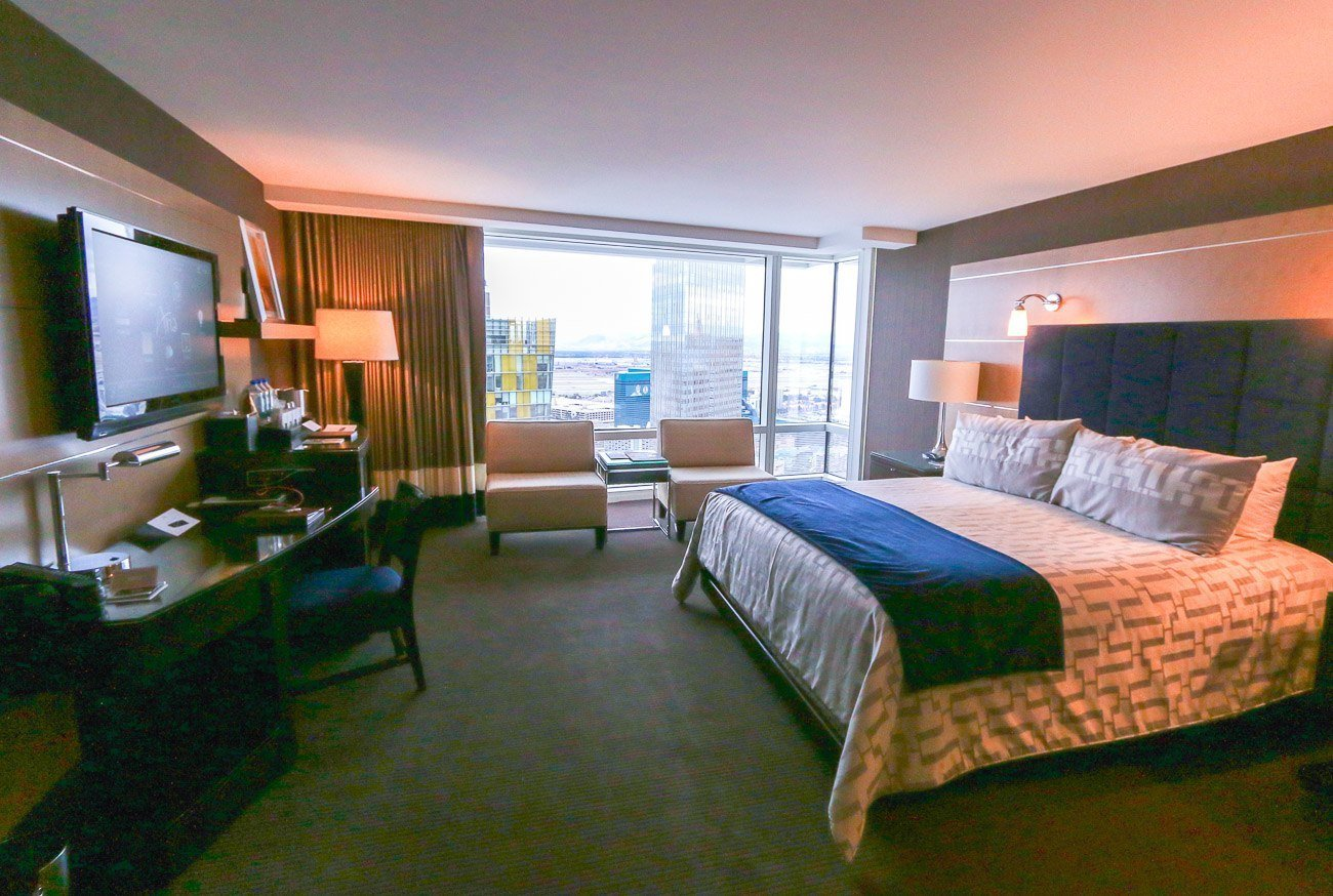 A city view deluxe room at Aria Las Vegas