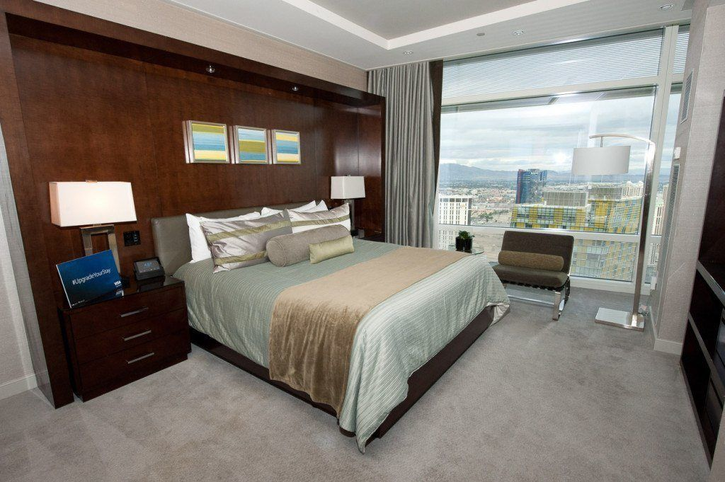 Bedroom in an Aria Sky Suite