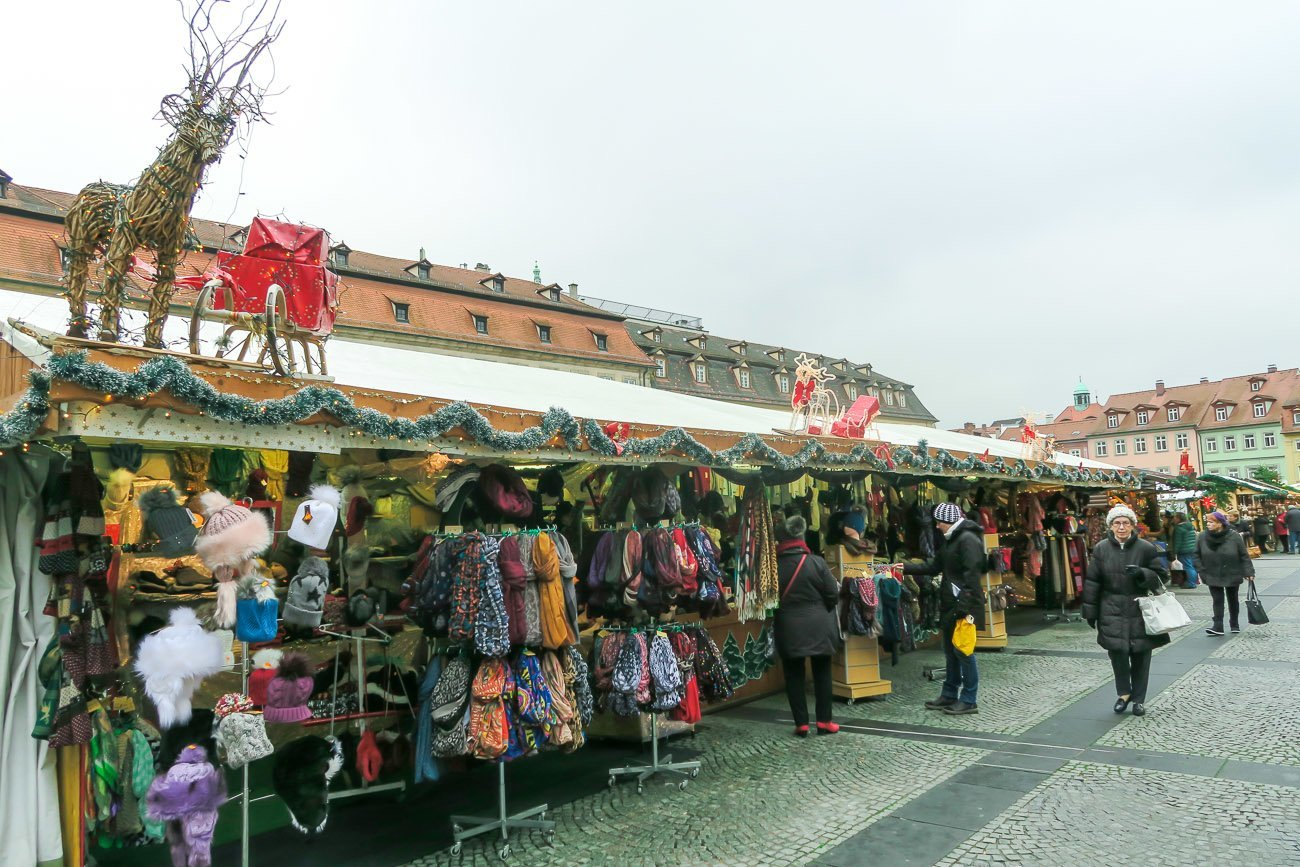 Shopping the Christmas market in Bamberg, Germany
