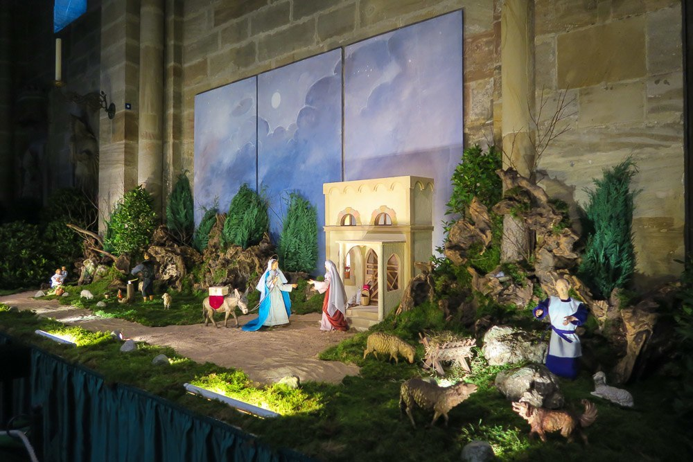 A nativity scene inside the Bamberg Cathedral