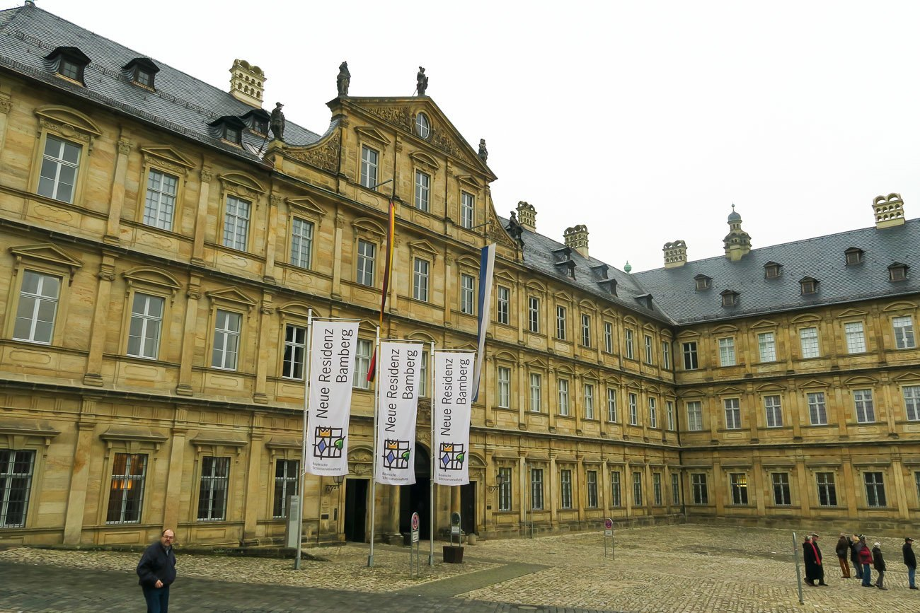 Bamberg New Residence with Rose Garden behind