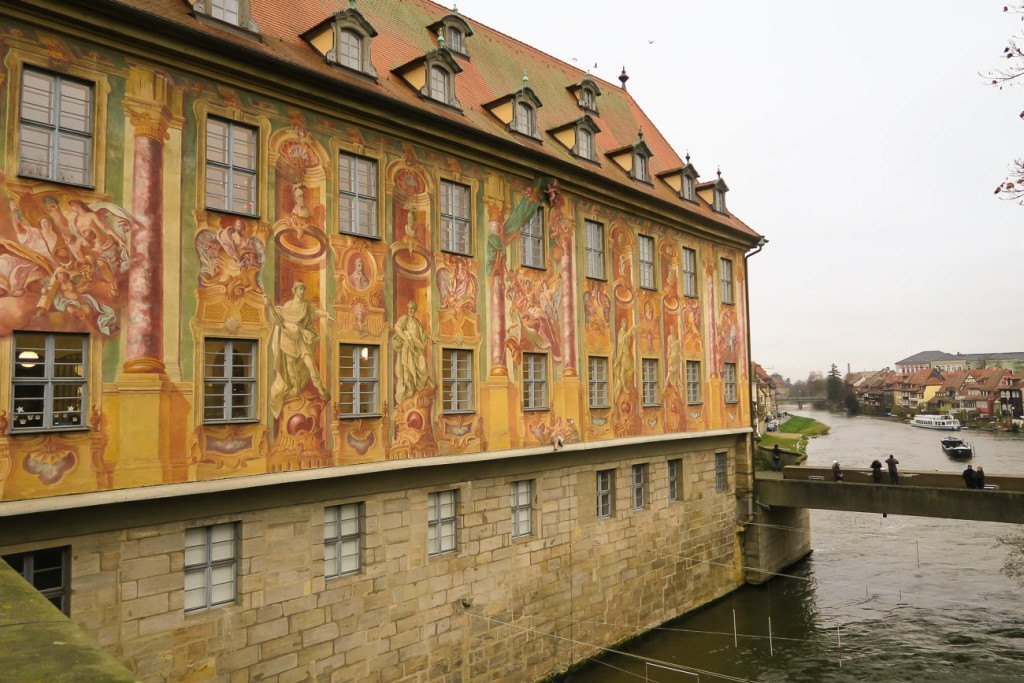 A fresco on the side of the Old Town Hall in Bamberg
