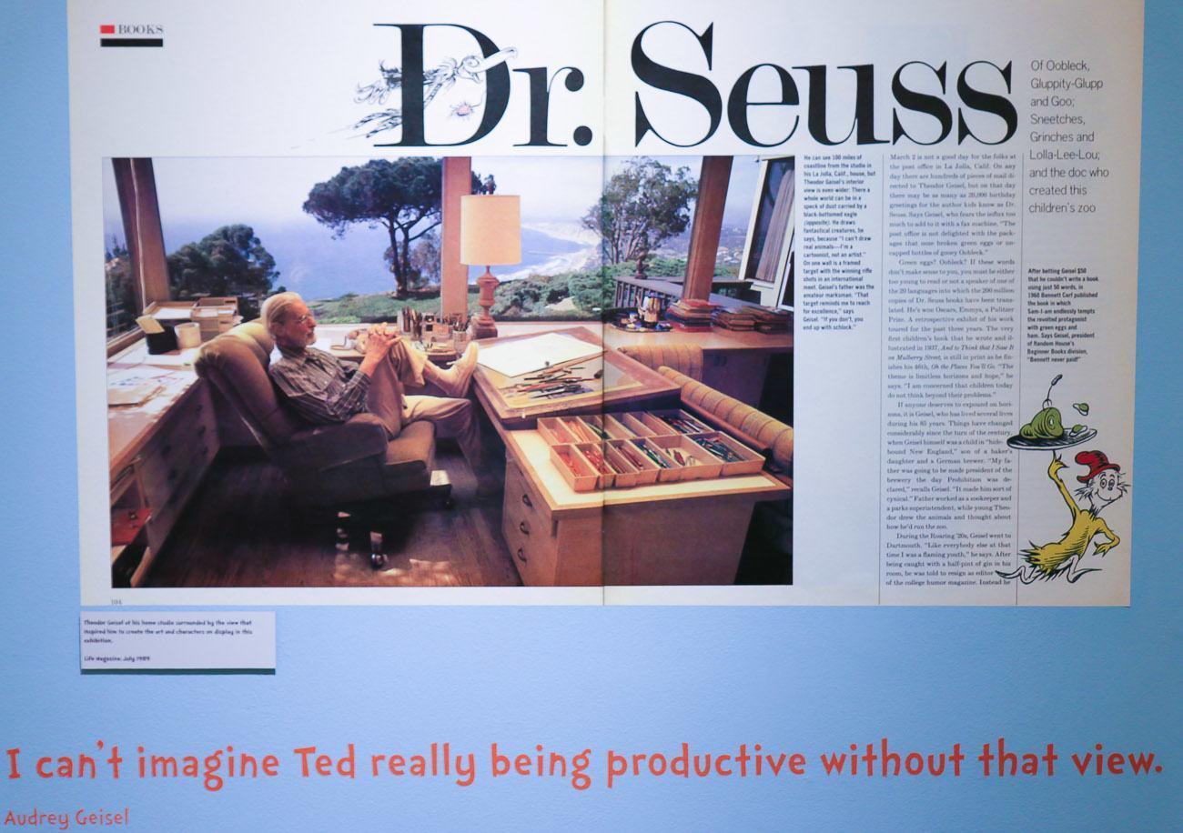 Dr. Seuss in his home office in La Jolla, CA