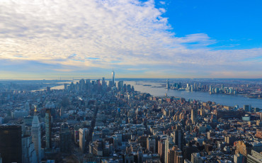 View from the 86th floor Empire State Building Observation Deck