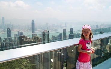 Hong Kong with kids at The Peak