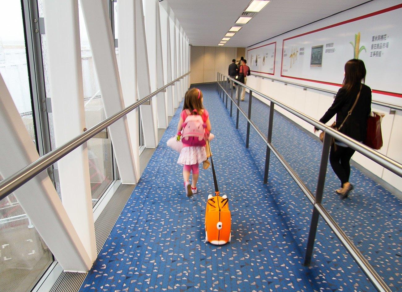 Hong Kong with kids at the airport
