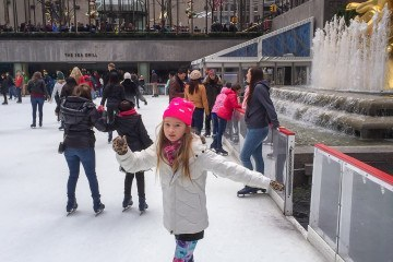 Go ice skating in winter at Rockefeller Center in New York City with kids