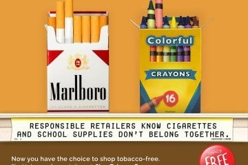 Shop tobacco free for your kids