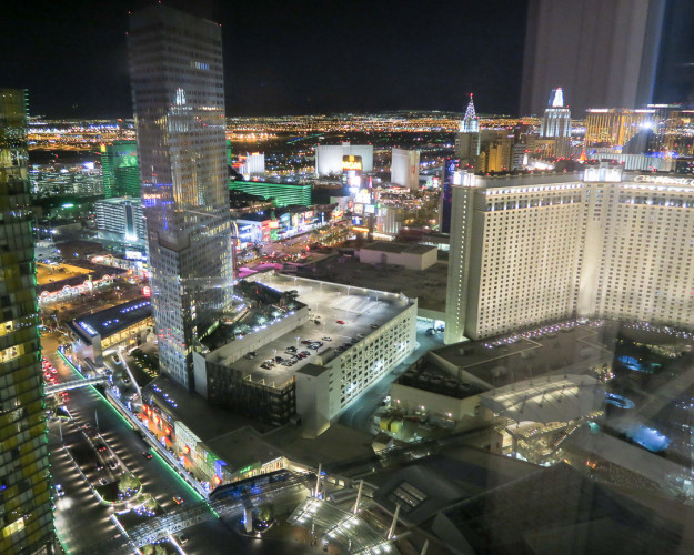 The view from Aria Resort and Casino in Las Vegas