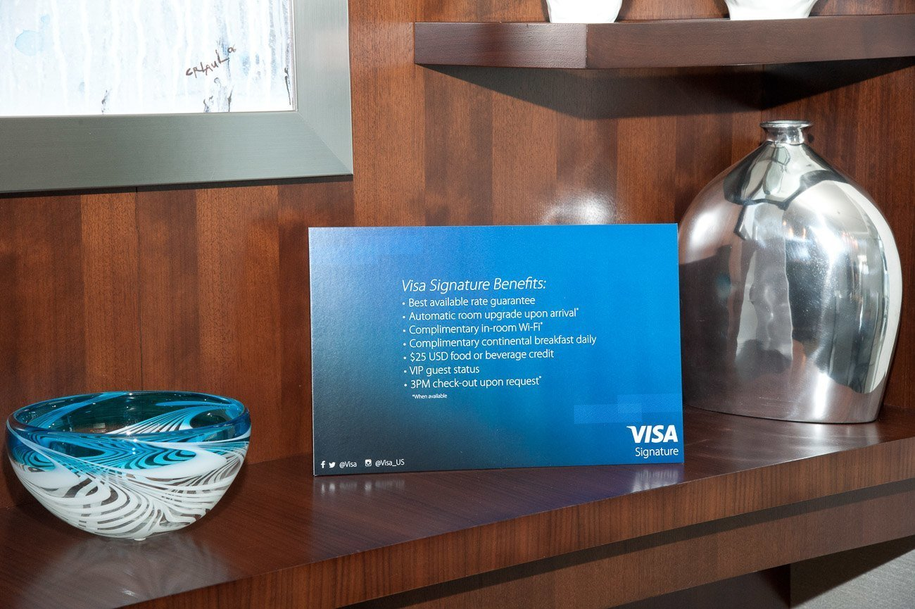 Visa Signature Luxury Hotel Collection benefits