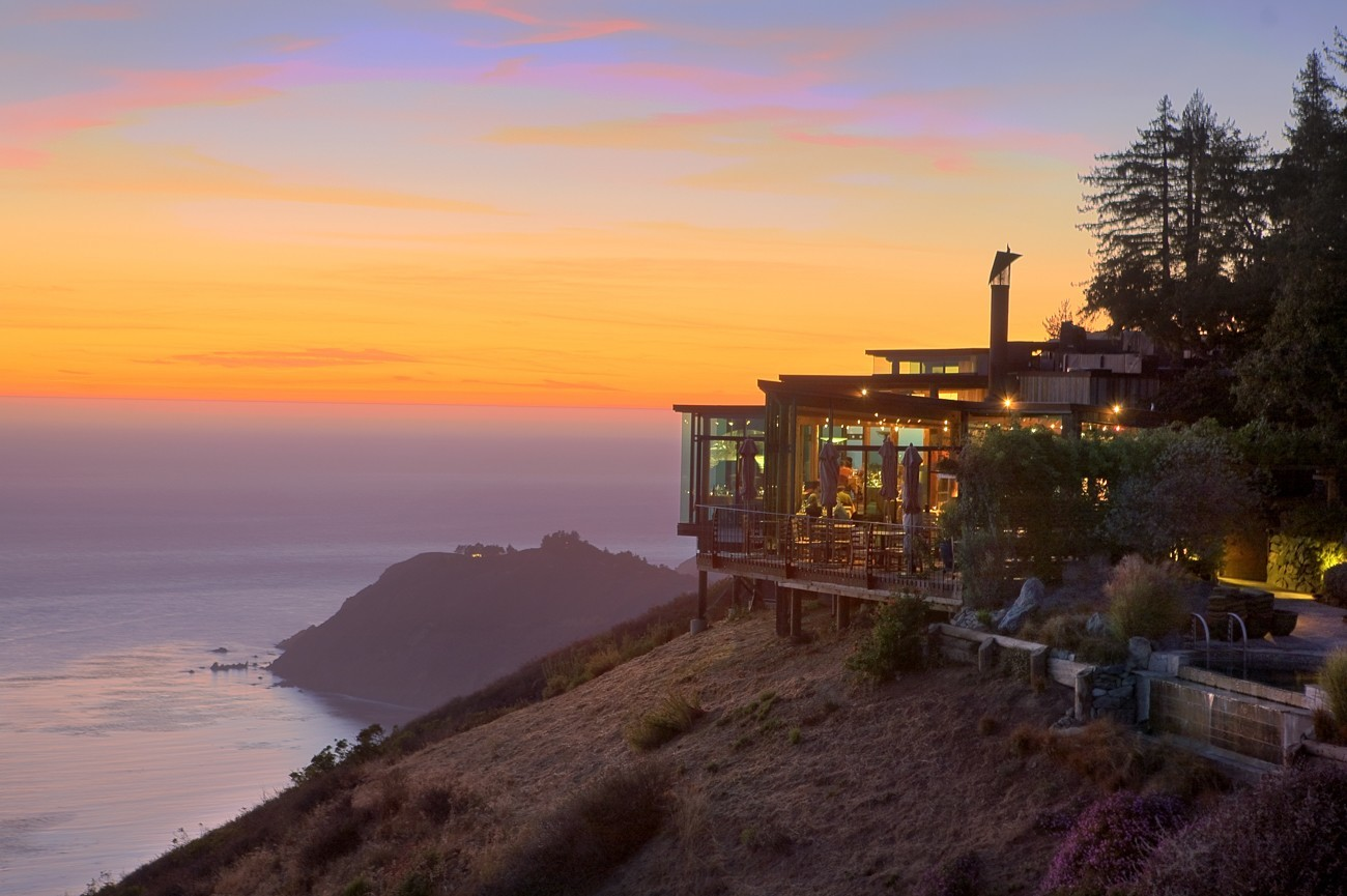 Post Ranch Inn is located on the cliffs of Big Surr