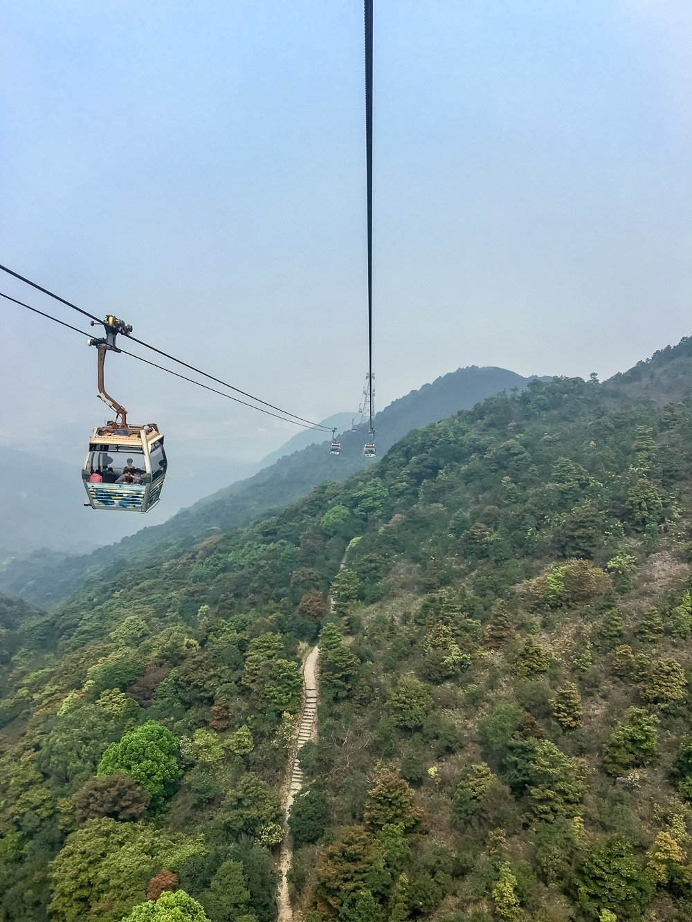 There are many trails on Lantau Island in Hong Kong